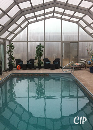 Pool Enclosure in Winter New Zealand