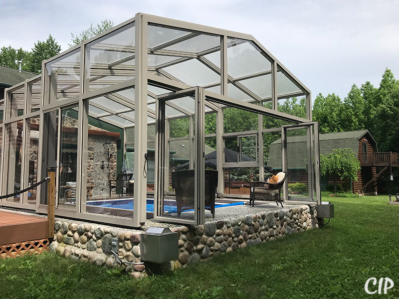 Pool Enclosure with Bi fold doors New Zealand